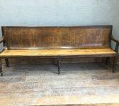 Long Ornate Hardwood Bench