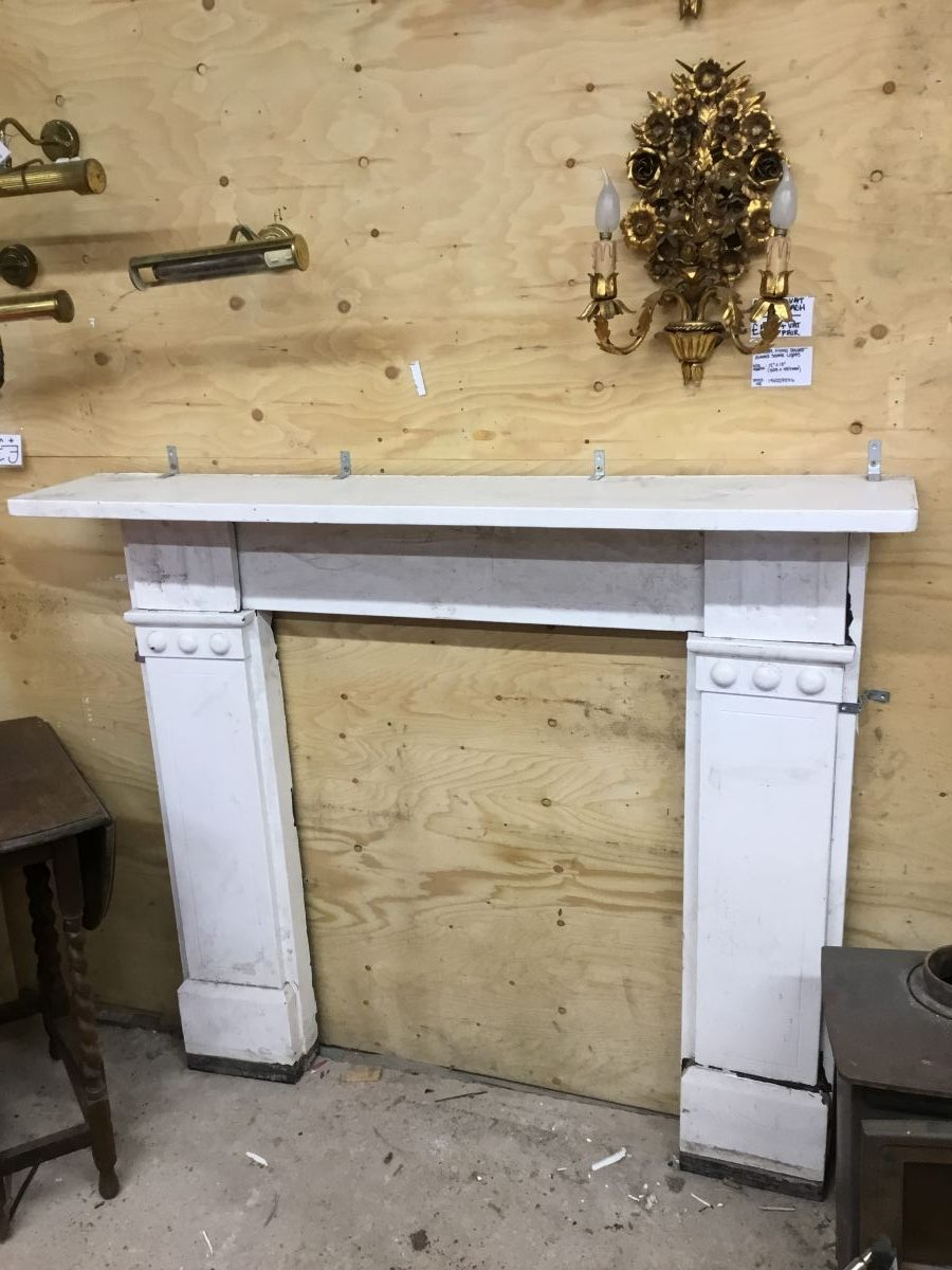 White Painted Slate Fire Surround