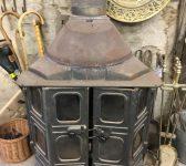 Large Glazed Wood Burner