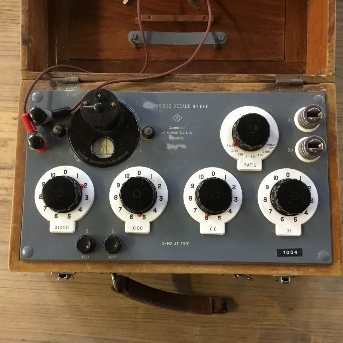 Wooden Electrical Test Box