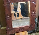 Varnished Floral Mirror