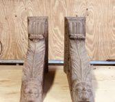 Carved Hardwood Corbels