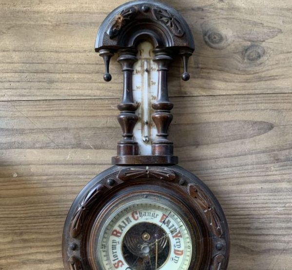 Traditional Thermometer and Barometer