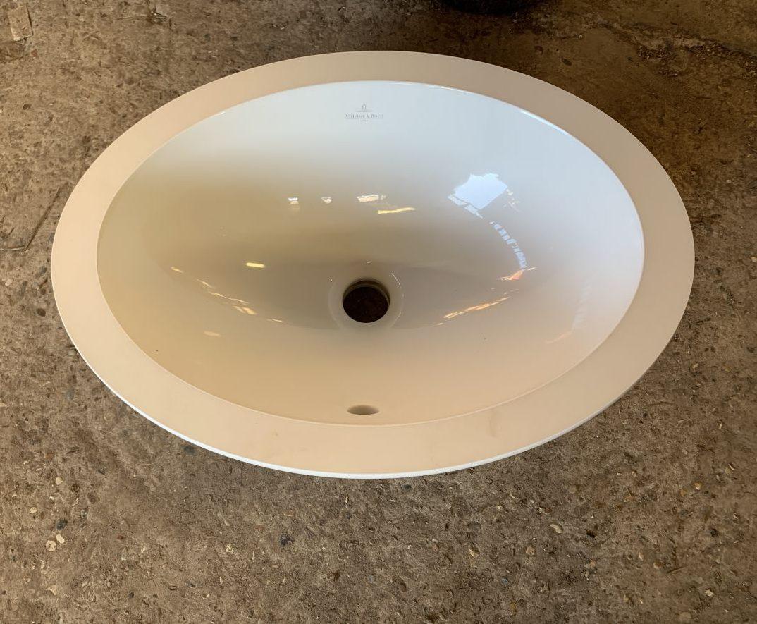 Insert Ceramic Oval Sink