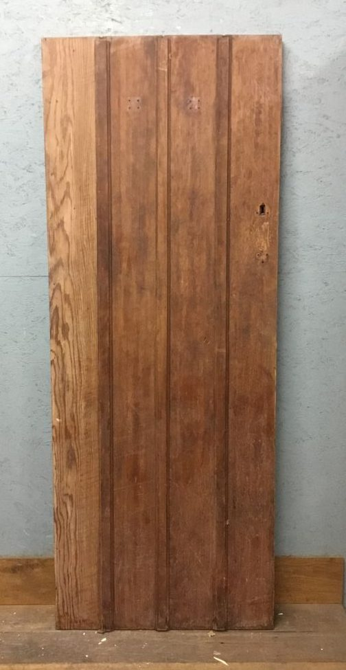 Unusual Paneled Oak Door
