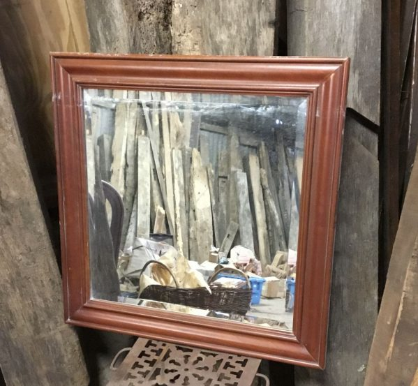 Varnished Beading Square Mirror