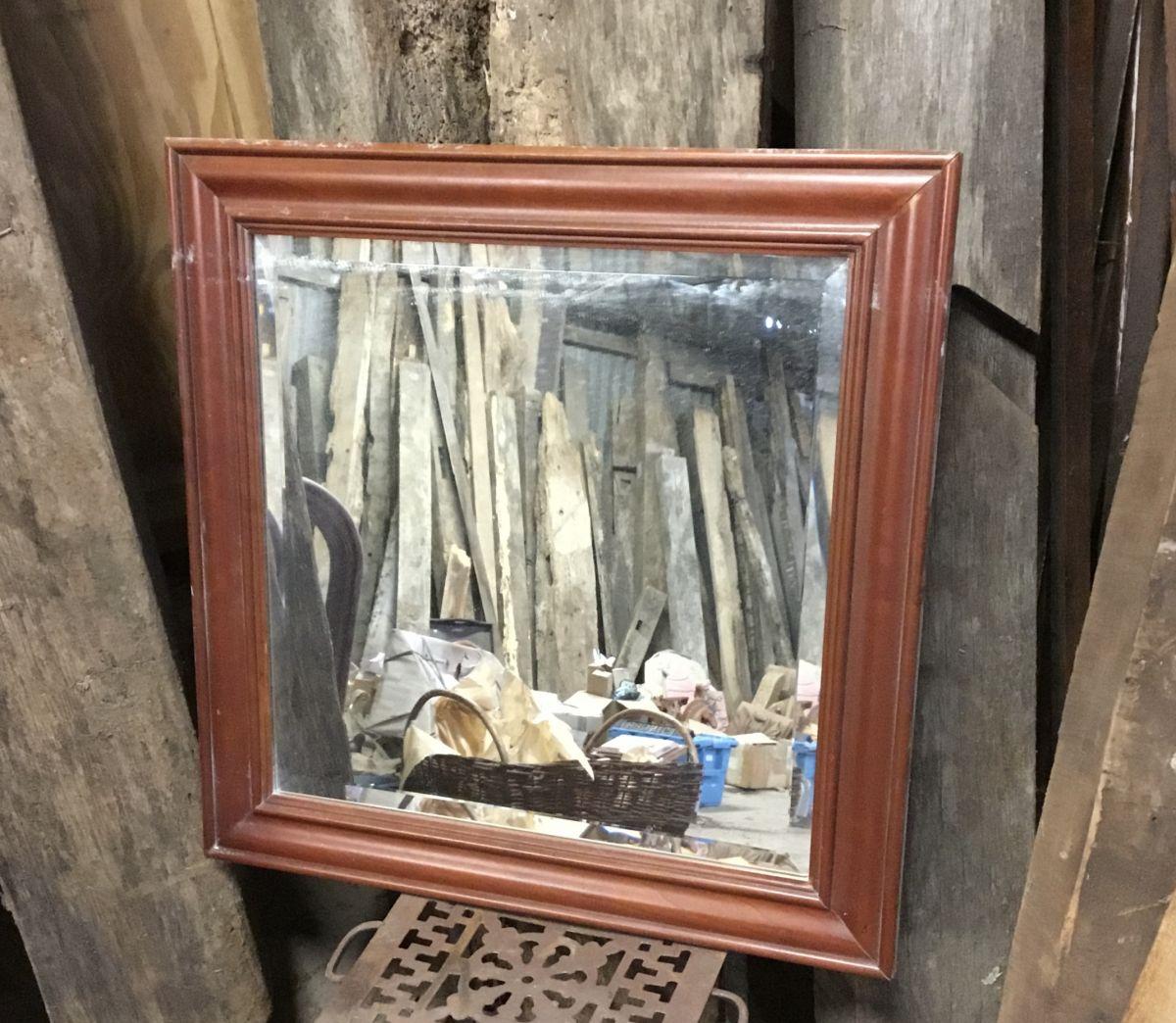 Varnished Beading Square Mirror