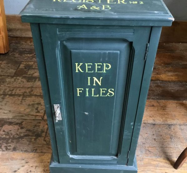 Painted Bed Side Cabinet
