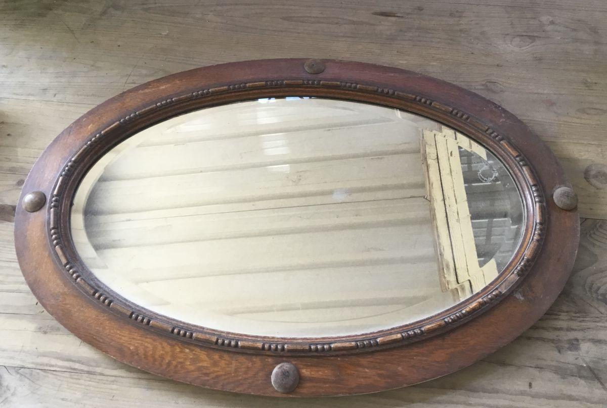 REclaimed Oval Landscape Mirrror
