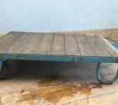 Reclaimed Wooden Trolley/Coffee Table