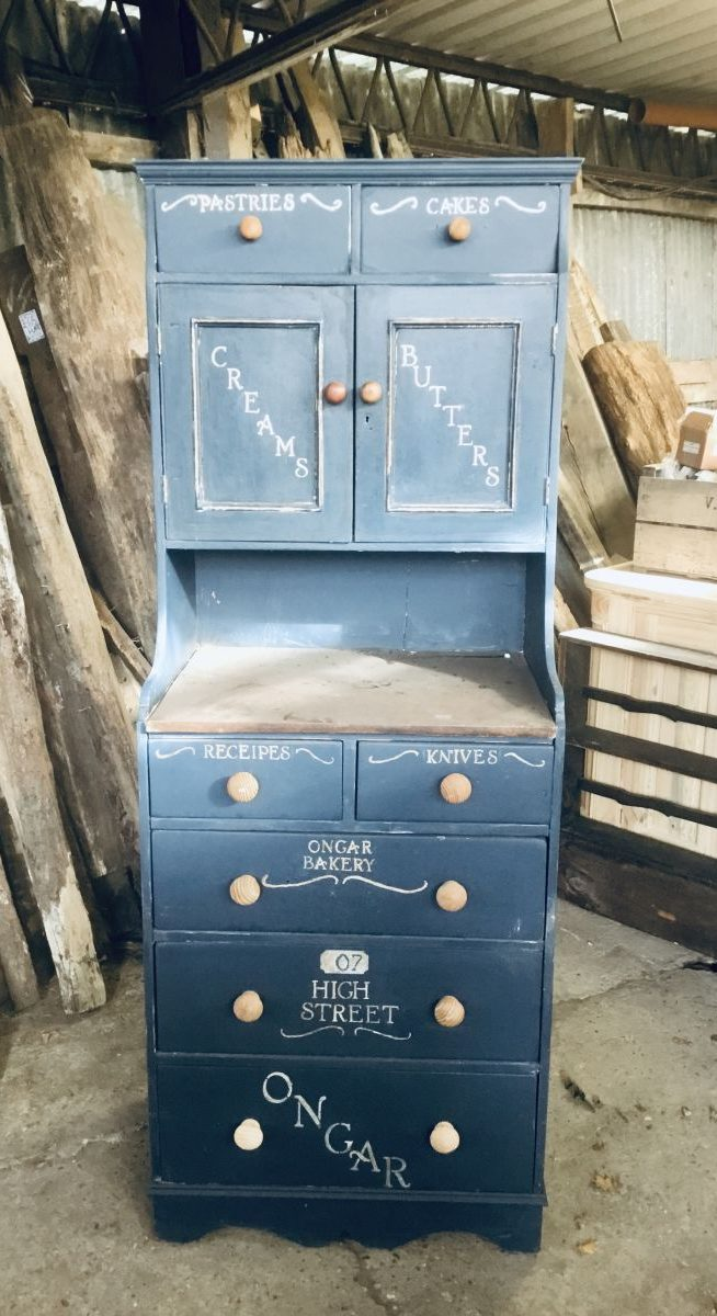 Blue Ongar Bakery Cabinet