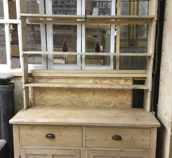 Pine Dresser With Bookshelf