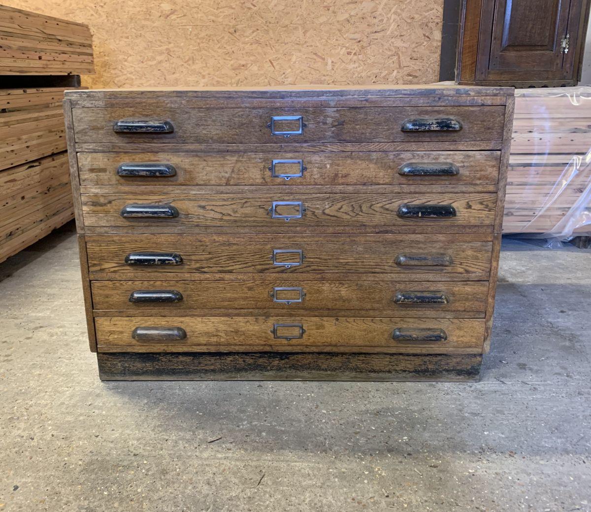Antique Printing Cabinet