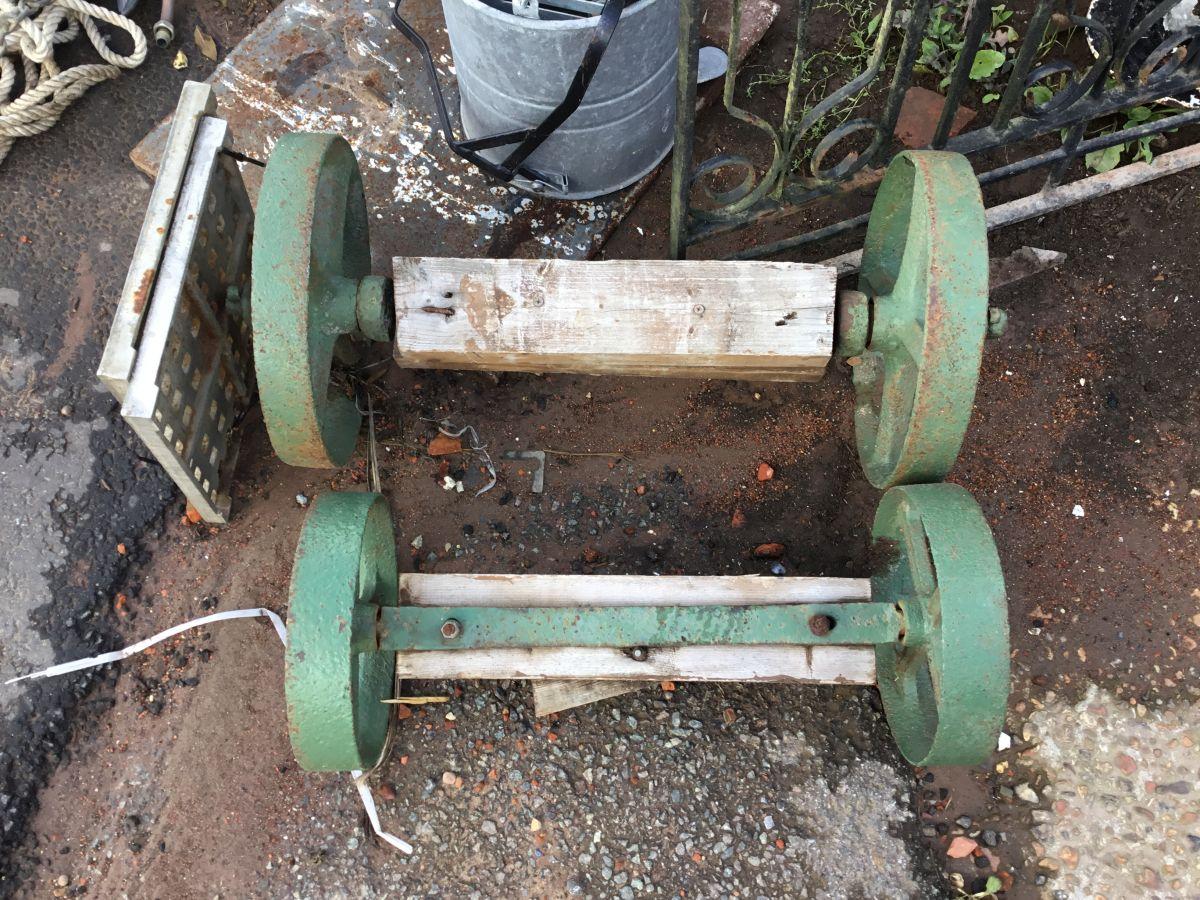 Old Green Cart Wheels