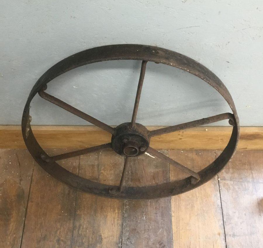 Reclaimed Cast Iron Wheel