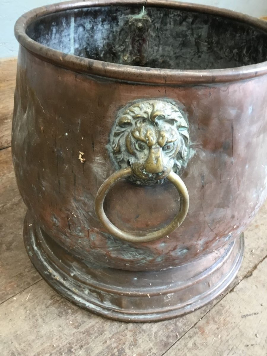 Large Copper Coal Scuttle