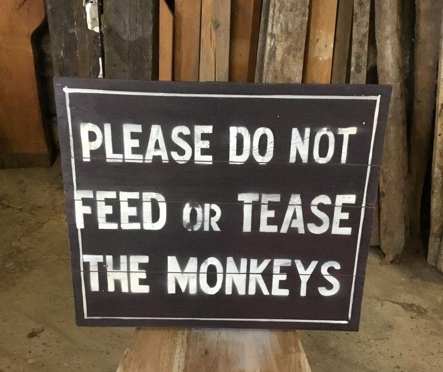 Zoo Feeding Signs
