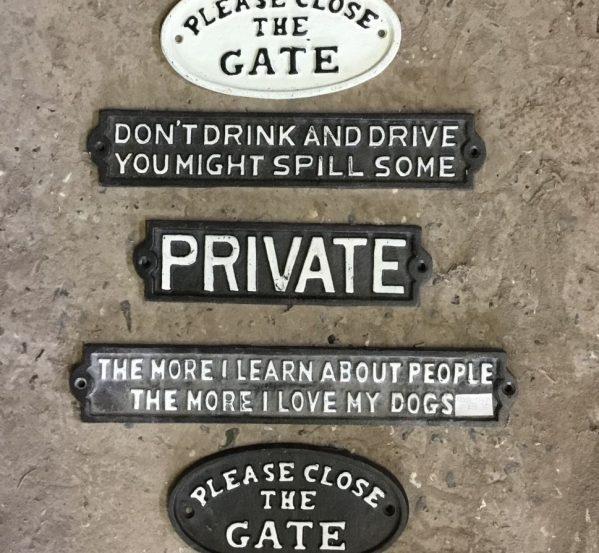Iron Gates Signs
