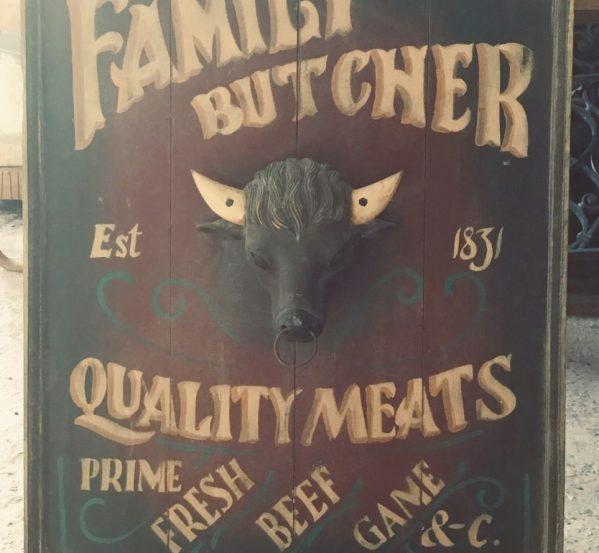 Butchers Bull Sign