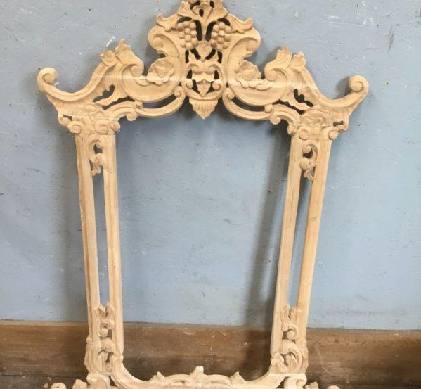 Carved Hard Wood Frame