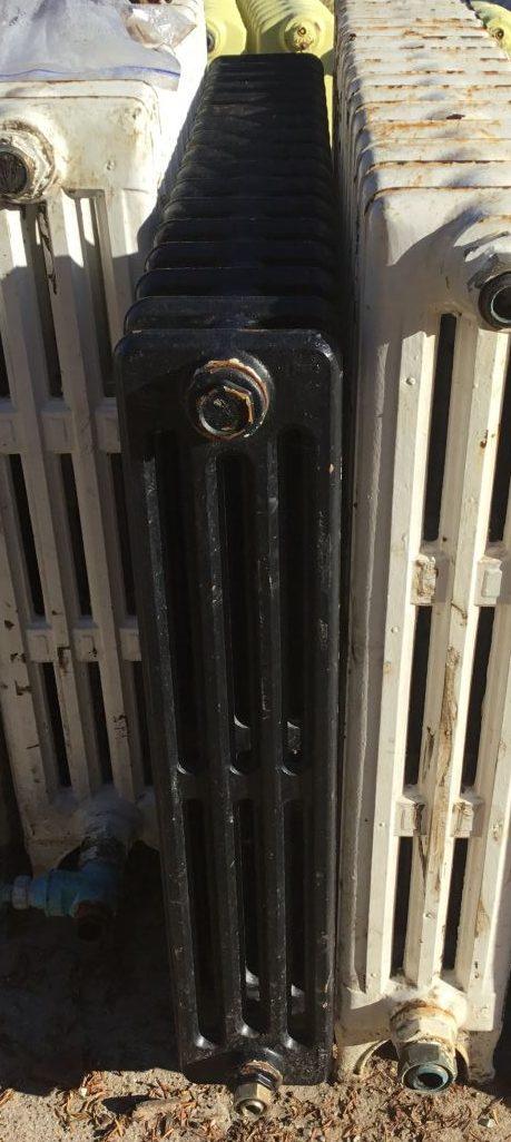 Reclaimed Black 4 Bar Radiator