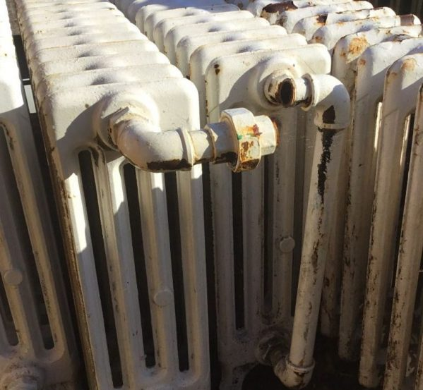 4 Bar White Radiator