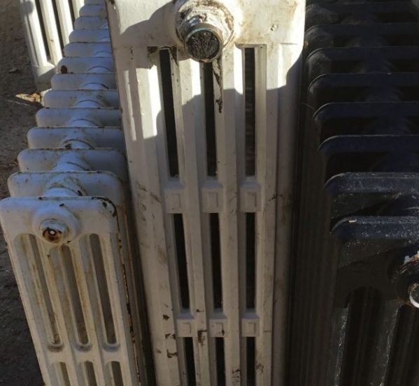 Reclaimed White 4 Bar Radiator
