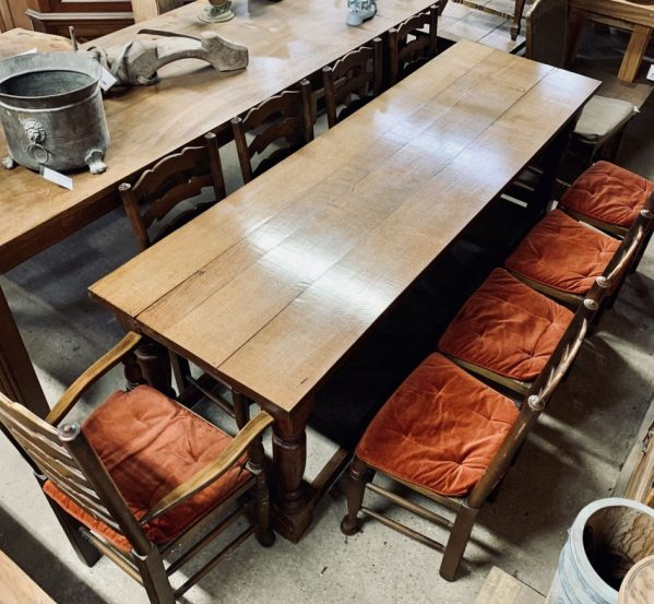 9 Seater Oak Dining Table