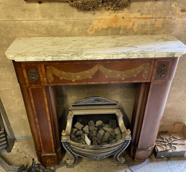 French Style Marble Top Fire Surround