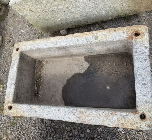 Square Edges Granite Trough