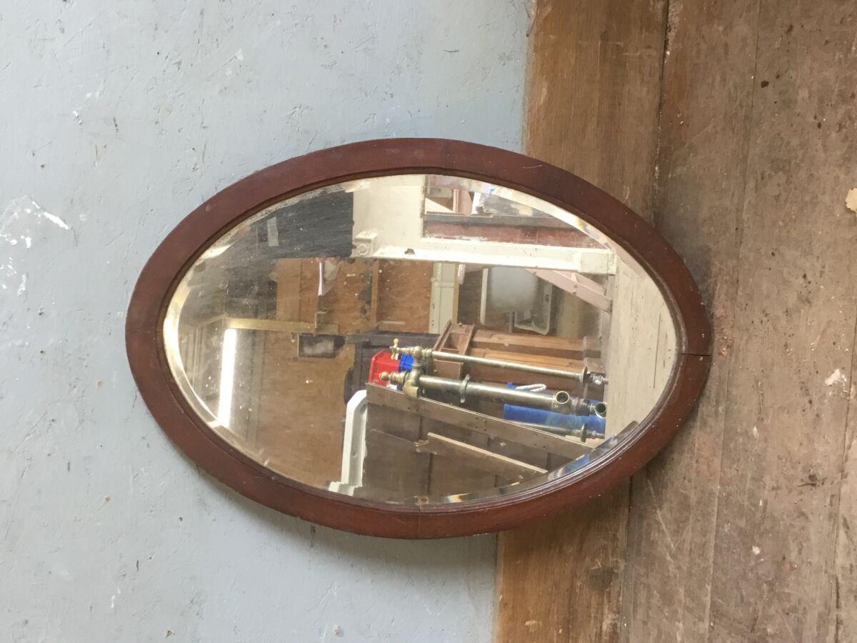 Reclaimed Oval Mirror
