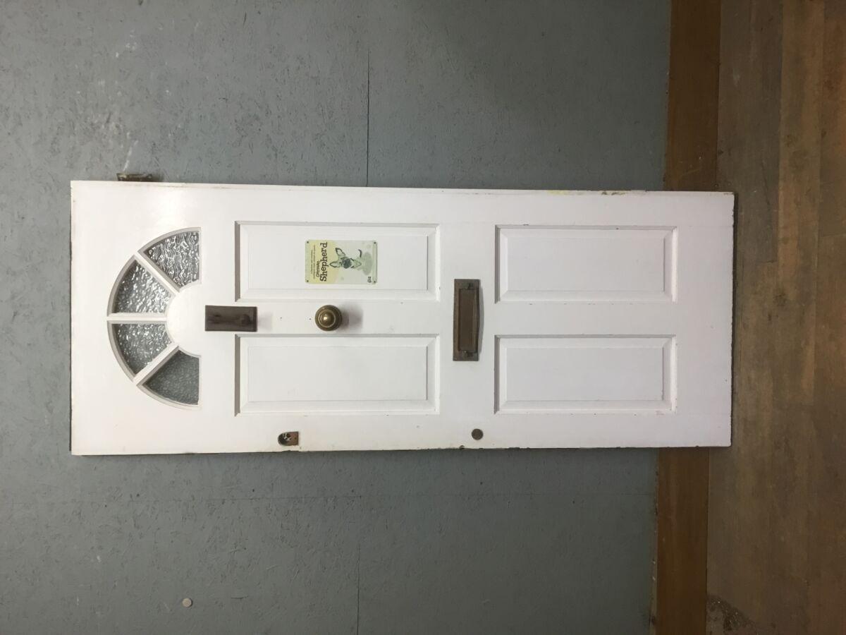 Painted White Front Door