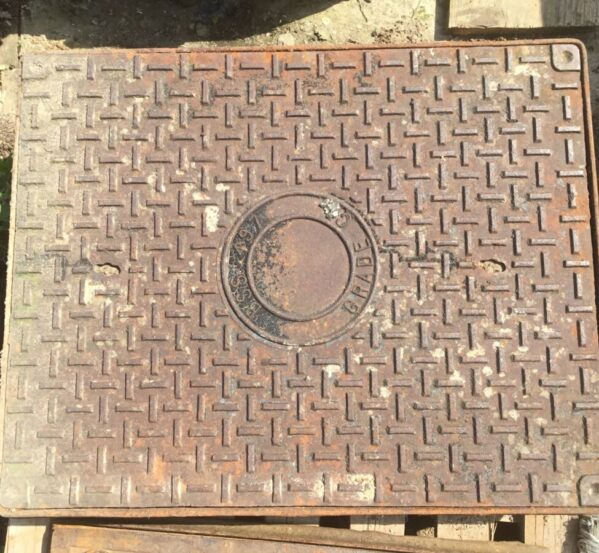 Large Reclaimed Man Hole Cover