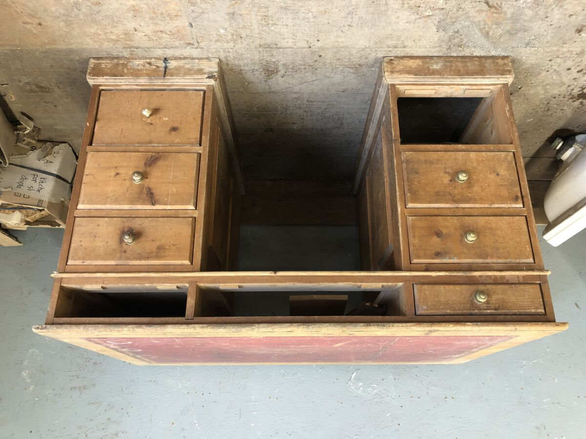 Reclaimed Table With Drawers