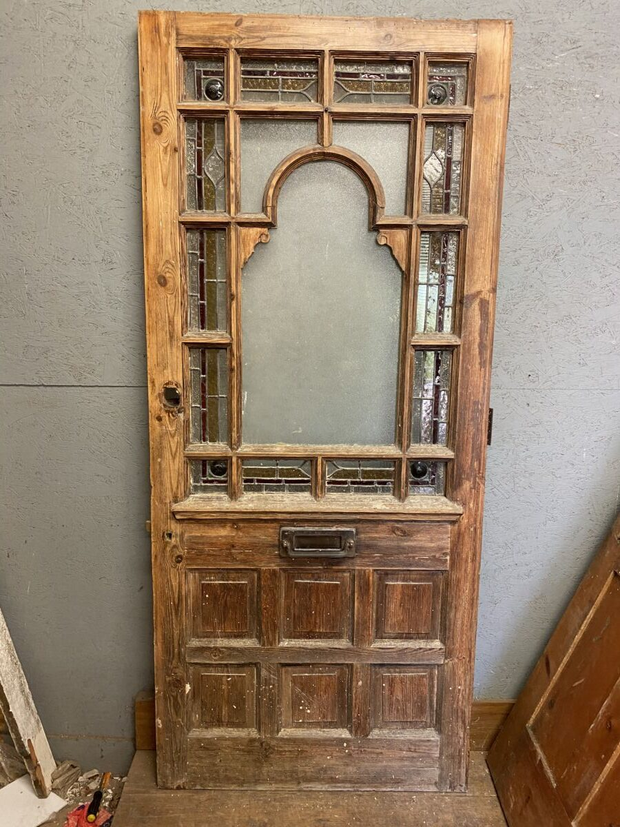 Gorgeous Wooden Stained Glass Door