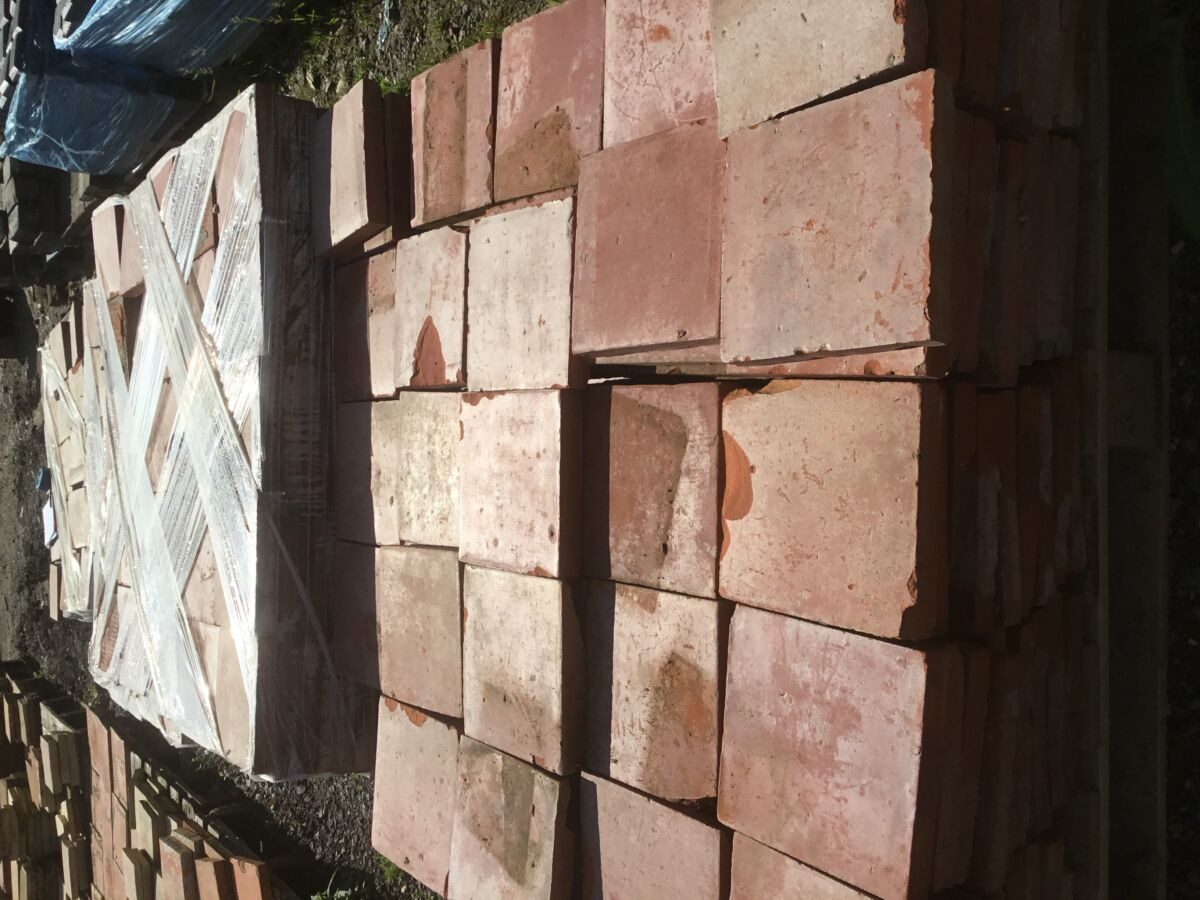 8 Large Square French Tiles