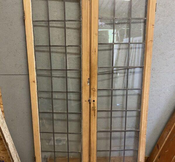 Glazed Wooden Double Doors