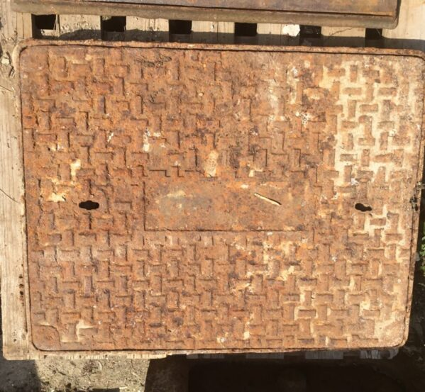 Reclaimed Large Man Hole Cover