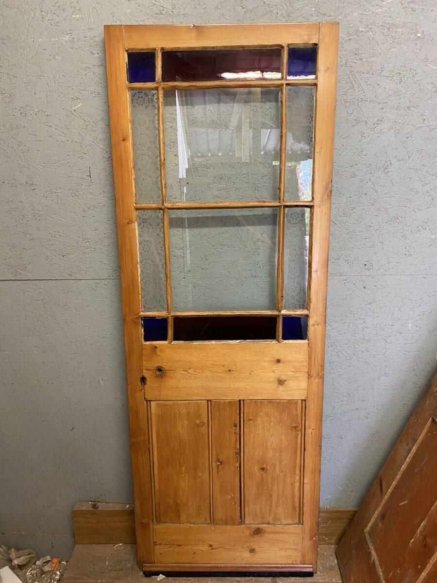 1/2 Glazed Stained Glass Door