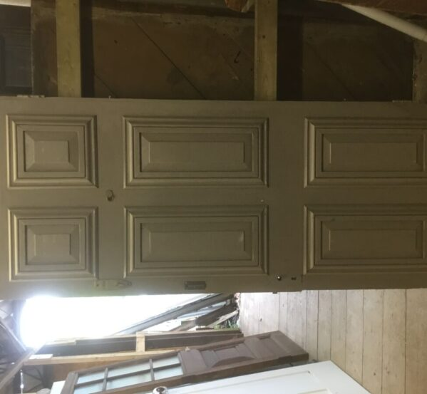 Grey + Black Front Door