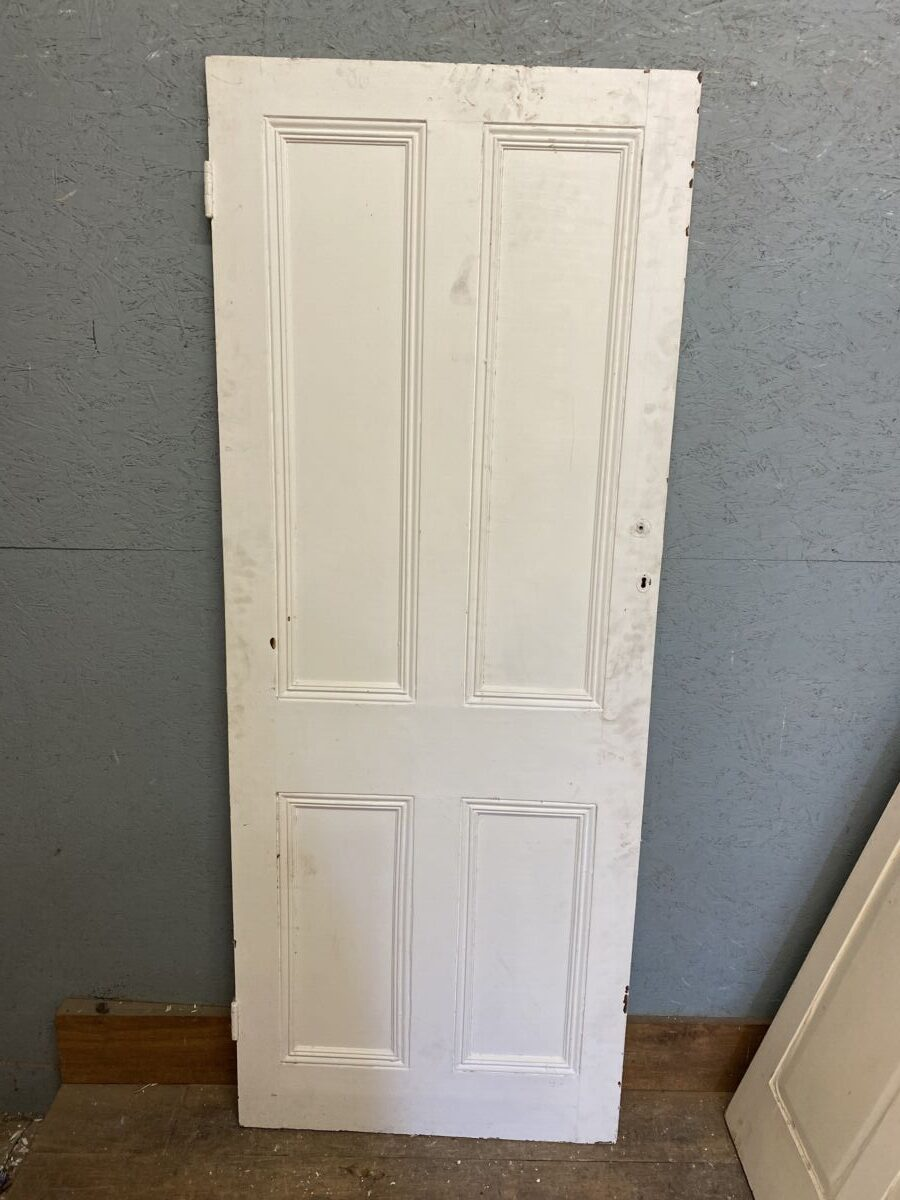 White Painted Four Panel Door