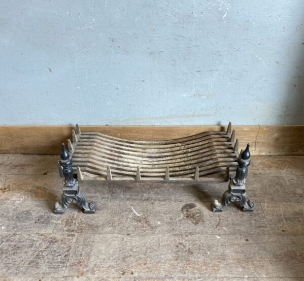 Large Fire Basket And Dogs
