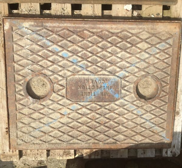 Reclaimed Man Hole Inspection Cover