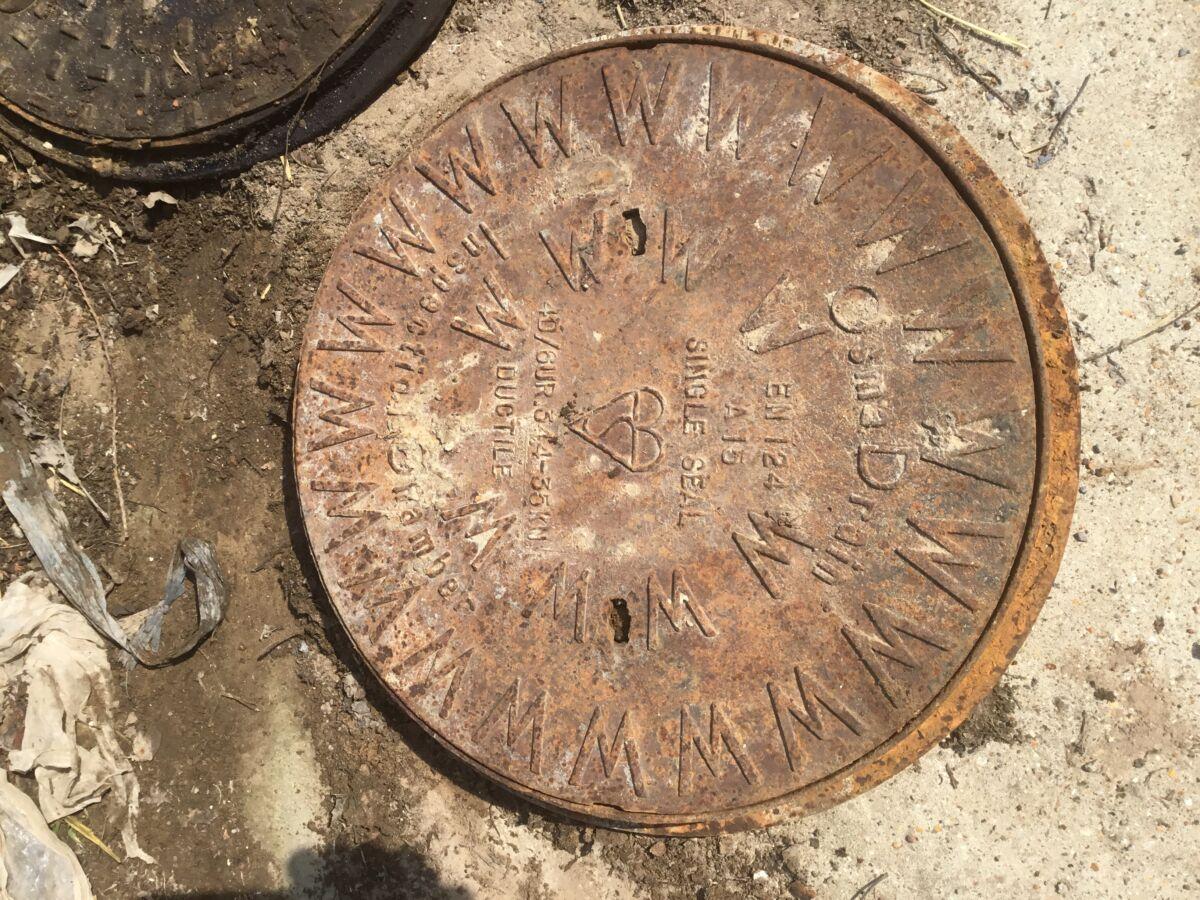 Reclaimed Clark Circle Drain