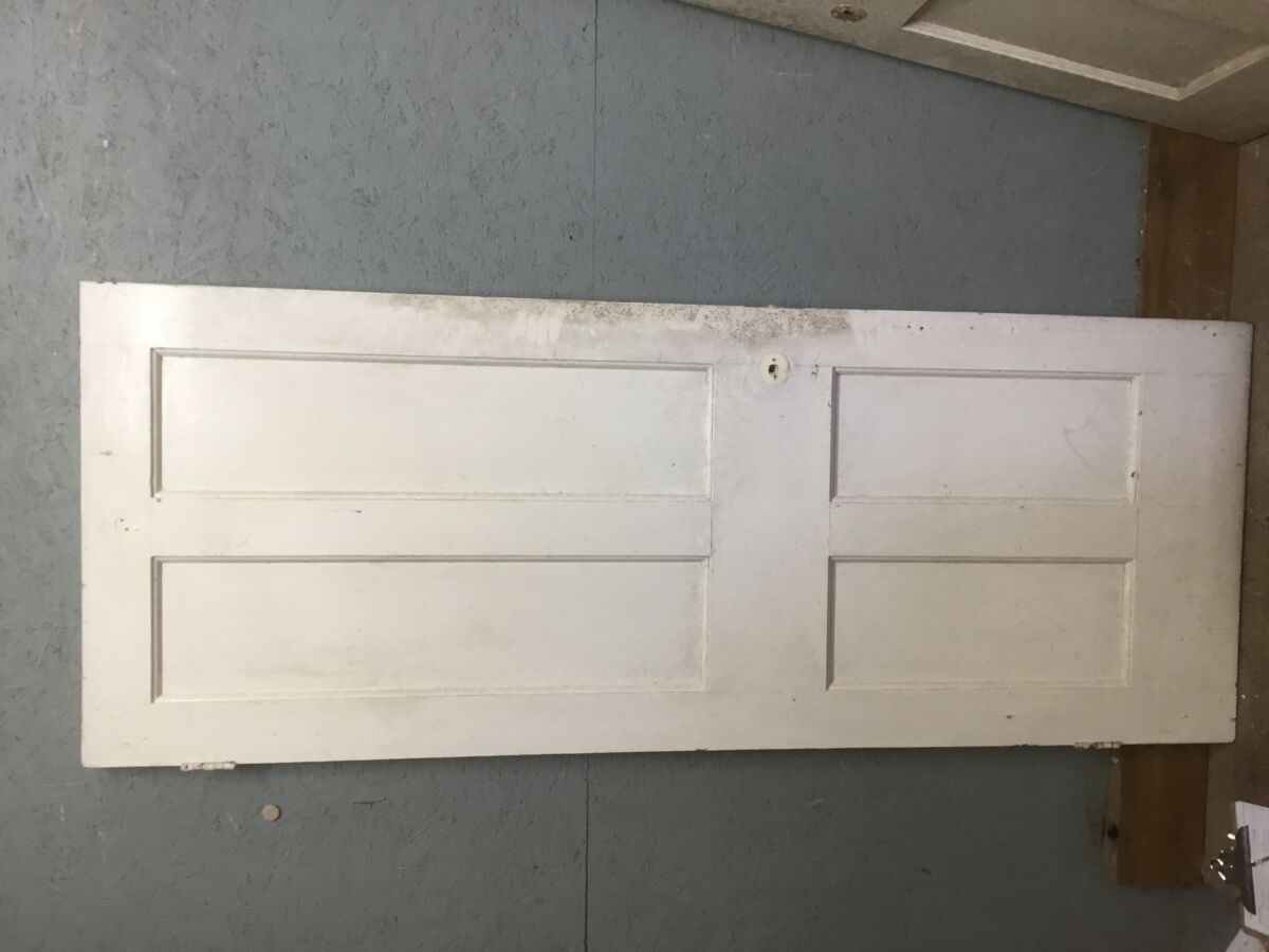Large White 4 Panel Door