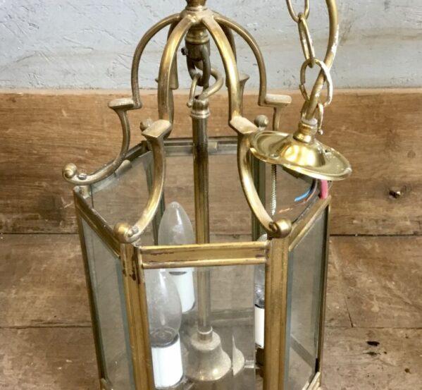 Hanging Hexagonal Glass Light