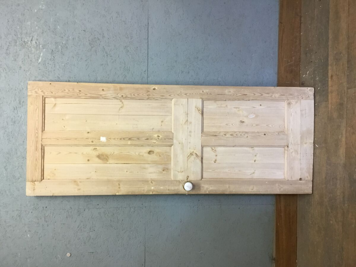 Four Panel Half Stripped Pine