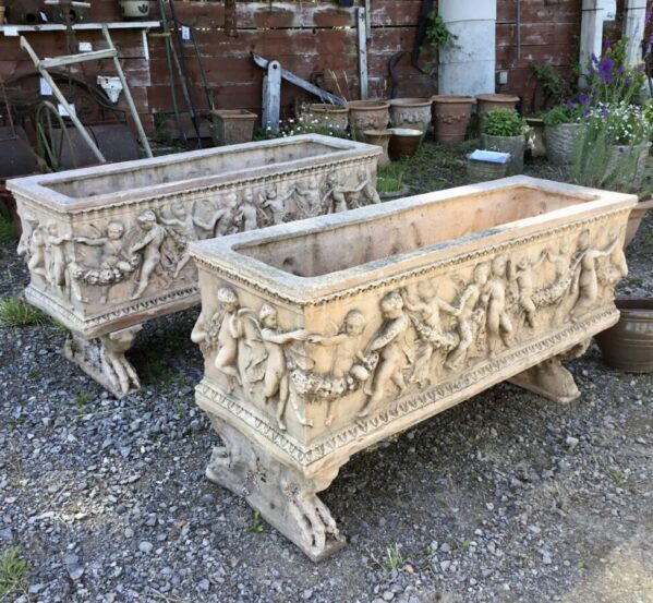 Reclaimed Rectangle Cupid Troughs
