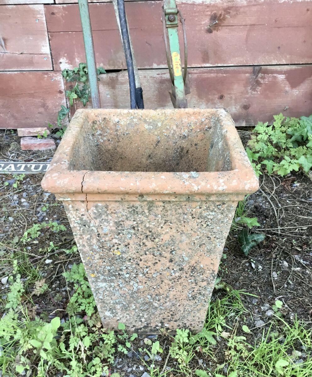 Reclaimed Square Pot