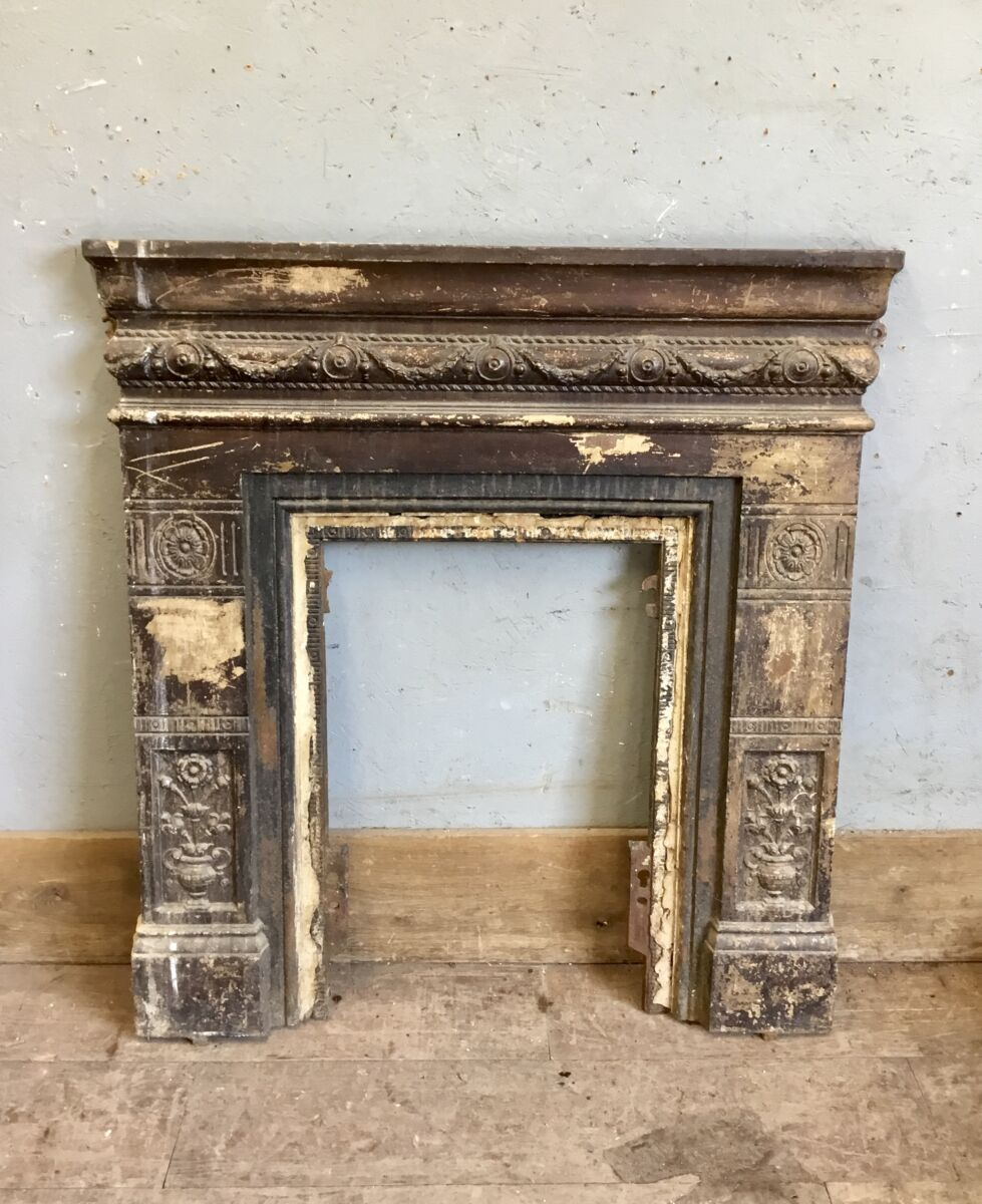 Reclaimed Cast Iron Fire Surround